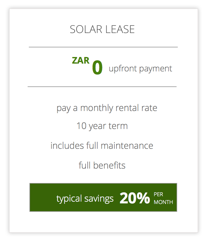 Solar systems for Business innovative funding models - solar lease