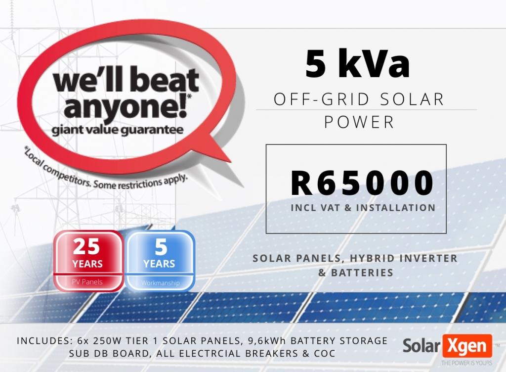 5kVa Off Grid Solar System Promotion