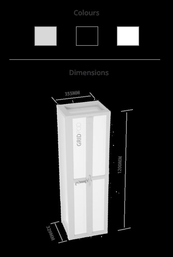 GridPod Dimensions