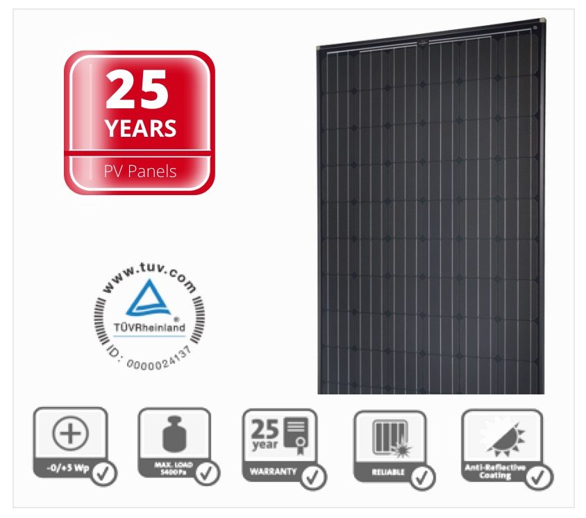 Solar System Guarantee on PV panels 25 years
